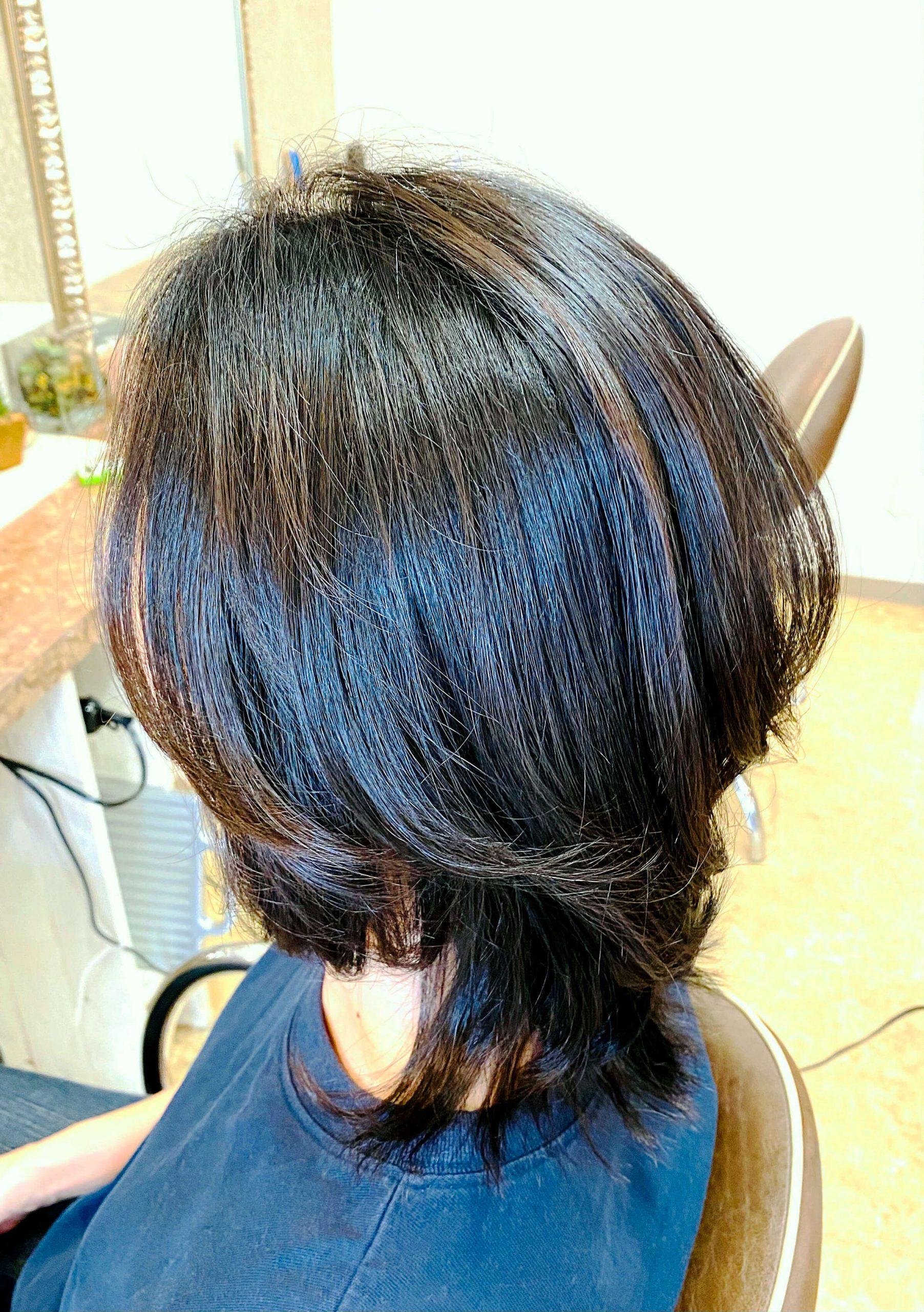 カット&髪質改善酸熱トリートメント